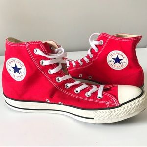 Converse red high top Chuck Taylor sneakers 10.5